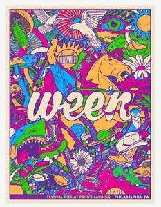 Ween Philadelphia 2016 concert art poster