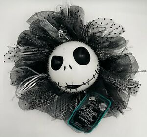 Nightmare Before Christmas Jack Skellington Motion Activated Wreath Sound Lights