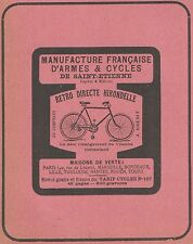 Z9393 Cycles Retro Directe HIRONDELLE -  Pubblicità d'epoca - 1909 Old advert