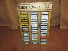 Vintage REDI Fuses Display Full of Fuses-Redi/Champ/Balkamp/Littelfuse/Big A1129