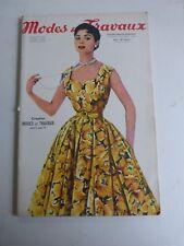 magazine Modes et Travaux n°655  juillet 1955 + patron