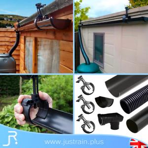 Mini Shed Roof Gutter Kit Bracket Greenhouse Garage Guttering System 4FT to 12FT