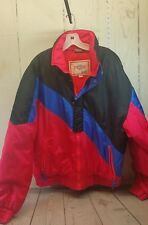 Men's Edelweiss Ski wear Coat Size XL Fire Red Blue Black