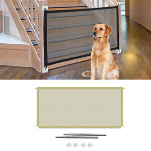 Portable Stairs Pet Gates Baby Gate Pet Isolation Mesh to Play and Rest
