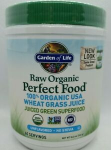 Garden of Life Raw 100% Organic USA Wheat Grass Juice Powder [Unflavored] 8.46oz