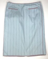 Nanette Lepore Womens Light Blue Stripped Lined Pencil Skirt Size 2