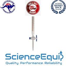 Glass Burette wth PTFE Stopcock Individually Certified 25mlx 0.1ml-585mm Premium