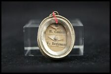 † 1864 PETER CANISIUS + JOHN BERCHMANS JESUIT RELIQUARY 2 RELIC WAX SEAL FRANCE†