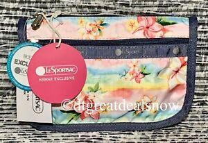 NWT LeSportsac Travel Cosmetic Bag Plumeria Rainbow 7315 K879 P1