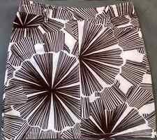 NAUTICA Brown White Denim Skirt Batik Floral Print Above Knee Mini Cotton 12 L