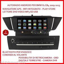 """AUTORADIO 9"""" ANDROID BMW X1 E84 2009-2013 3G WIFI USB SD NAVIGATORE GPS COM VOL"""