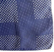 "Vintage spotted pocket handkerchief Polka dots diamonds 16"" square kerchief eb"