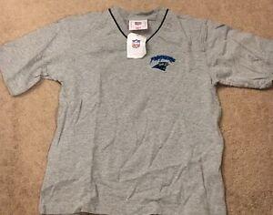 NWT Carolina Panthers V-Neck T-Shirt Grey Youth Size 8