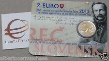 2015 2 euro coincard SLOVACCHIA Slovaquie Slovakia Slovenska 200 Ludovit STUR