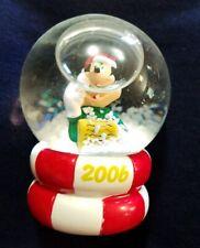 "Disney Mickey Mouse Snow Globe Christmas No Box 2006 JCPenny 2.5"""