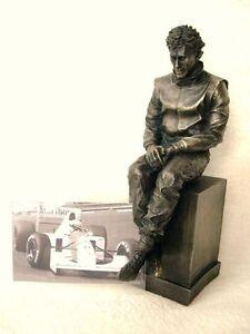 AYRTON SENNA LEGENDS FOREVER FIGURE STATUE MODEL FORMULA 1 F1 RACING HOMAGE NEW
