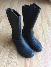Merrell Women's Tall Waterproof Captiva Buckle-Down Black Boots 7 M