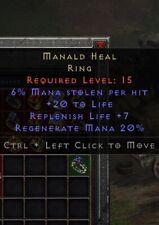 Manald Heal Ring | Manald Heilung Ring | Diablo 2 Resurrected D2R SC PC