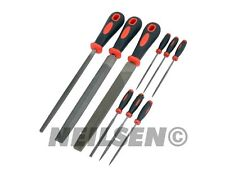 9pc File Set For Metal Flat Triangle Taper Square Half Round Steel Needle Files