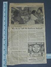 Vintage 1971 Muhammad & The Mountain - Ali Newspaper Clipping w Ad Buster Mathis