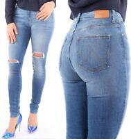 Wrangler Bespoke Damen Jeans Hose Karotten Schnitt Hohe Taille Vintage W26 - W31