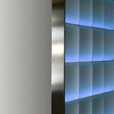 Abschlussprofil für 8cm starke Glasbausteine Glasstein in Edelstahl gebürstet