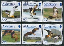 2002 ALDERNEY MIGRATING BIRDS PART 1: RAPTORS SET OF 6 FINE MINT MNH/MUH