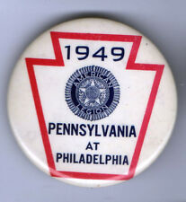 1949 pin AMERICAN LEGION pinback Pennsylvania at PHILADELPHIA button