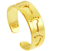 Solid Gold Bold Footprint Design Toe Ring Made in Usa