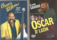 OSCAR D' LEON 2 DVD SET EN VIVO 39 EXITOS IMPORT SALSA