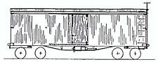 COLORADO MIDLAND RAILROAD 1887 BOXCAR HO Unpainted Craftsman Wood Kit TC2000
