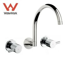 NEW Swivel wall bath spa laundry spout & 1/4 turn Ceramic wall tap assembly set