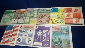 Lot 10 My Weekly Reader Magazine Summer Edition Astronaut 1964 VG Some Markings