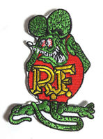"""Rat Fink """"RF"""" Logo 3.5"""" Tall Embroidered  Patch- FREE S&H (RFPA-01)"""
