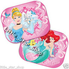 2x Disney PRINCESS 2  Kids Baby Children Girl Car Window Sun Shades 44x35cm*