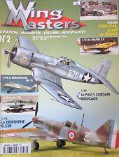 MAQUETTE AVIATION MILITAIRE WW2 REVUE WING MASTERS N° 2 de 1998 AVIONS GUERRE