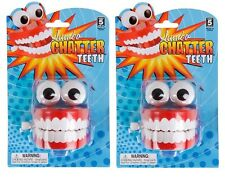 (2) Large Wind Up Chattering Teeth Toy