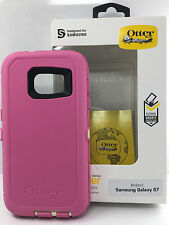 Otterbox Defender Case w/Clip Case For Samsung Galaxy S7 Pink White Cream New