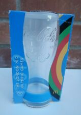 Limited edition The London Olympic Games 2012 Coca Cola Glass + Blue Wristband