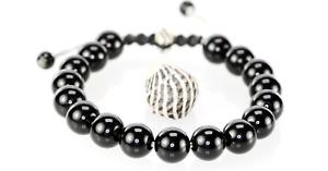 3B-597 ADJUSTABLE Black Onyx Armband Wristband Men Bracelet | Bravo Australia.