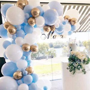 Blue Gold Balloon Arch Garland Kit Wedding Baby Shower Birthday Party Decor 121P