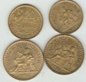 Lot de 4 superbes monnaies françaises