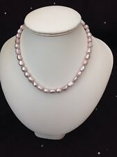 A0764 Single row Baroque Cultured Pearl Necklace