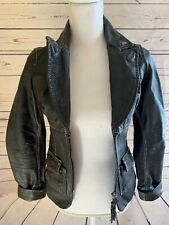 Distressed Miss Sixty Motorcycle Leather Jacket Size Small