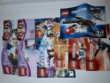 Lot LEGO 7 notices  friends, elves et creator