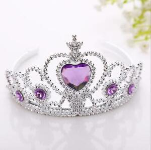 NEW beautiful lilac rose crystal tiara