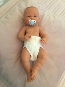 Lovely  baby boy doll. Skin soft vinyl. Anatomically correct,life size. 18 ins