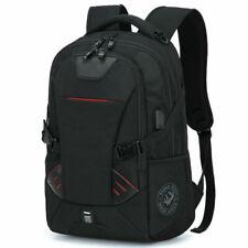 Mens Oxford School Backpack Satchel Laptop Notebook Zipper Casual Travel Bag 16'
