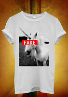 Unicorn Fake Funny Hipster Cool Men Women Unisex T Shirt Tank Top Vest 908