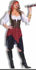 Women's Buccaneer Pirate Fancy Dress Costume Fits Up To Size  16